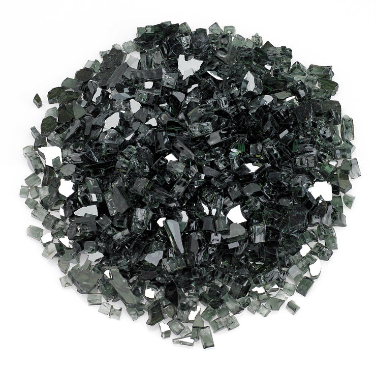 American Fire Glass - Black Reflective Glass - AFF-BLKRF-10