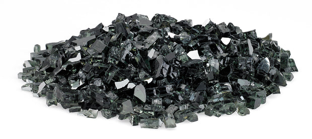 American Fire Glass - Black Reflective Glass - AFF-BLKRF-10 3
