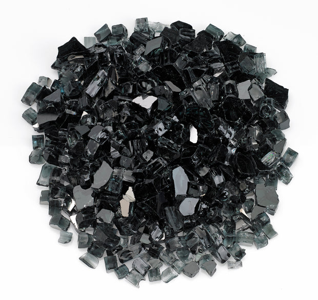 "American Fire Glass - Black Reflective 1/2"" Glass - AFF-BLKRF12-10 _"