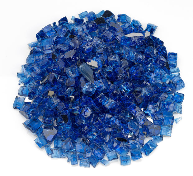 "American Fire Glass - Cobalt Reflective 1/2"" Glass - AFF-COBLRF12-10 _"