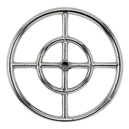 "American Fire Glass - 12"" Stainless Steel Fire Pit Fire RIng - SS-FR-12"