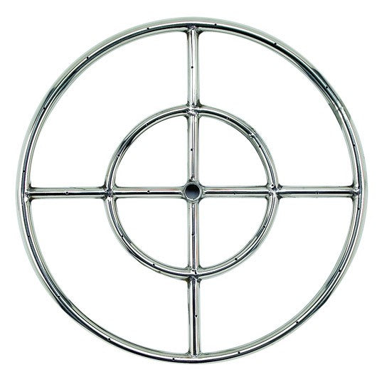 "American Fire Glass - 18"" Stainless Steel Fire Ring  SS-FR-24"