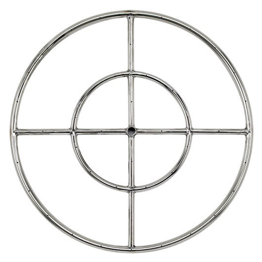 "American Fire Glass - 24"" Stainless Steel Fire Ring - SS-FR-24"