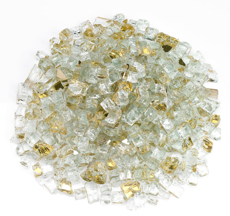 "American Fire Glass - Gold Reflective 1/2"" Glass - AFF-GDRF12-10  _"