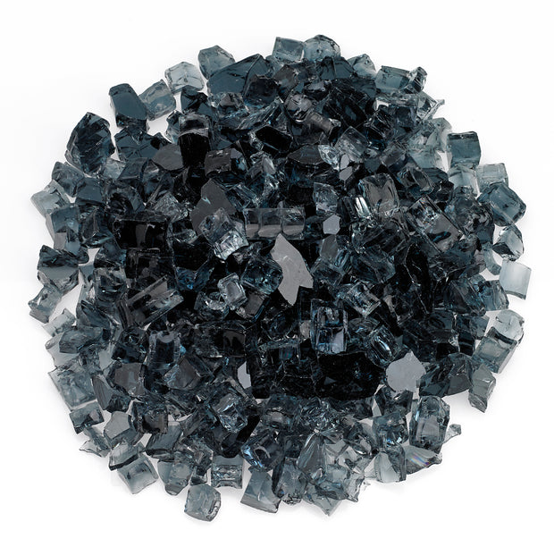 "American Fire Glass - Gray 1/2"" Glass - AFF-GRY12-10"