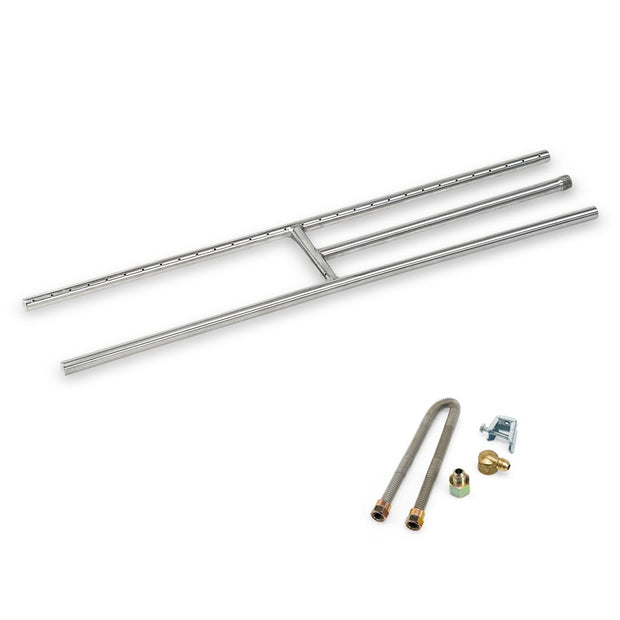 "30"" Stainless Steel H Burner American Fire Glass - SS-h-30"