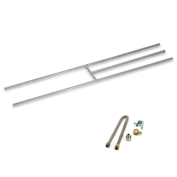 "ss-h-48 american fire glass 48"" h burner for fireplaces"