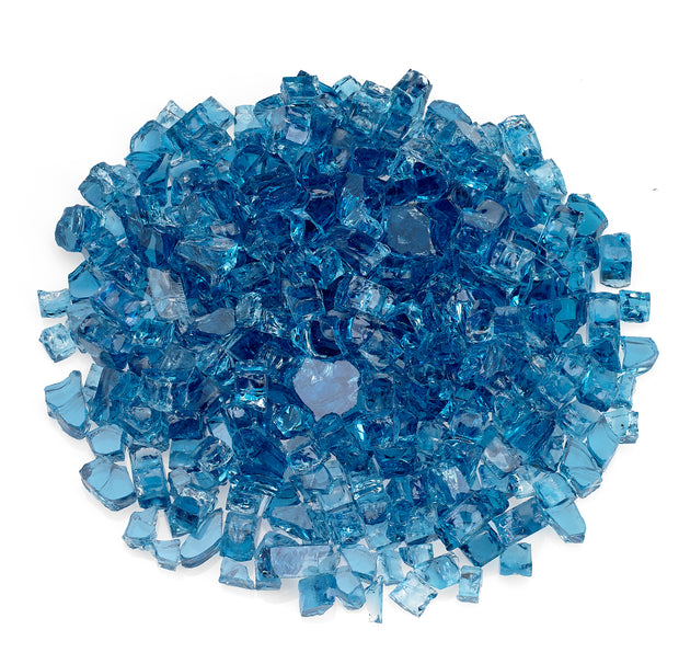 "American Fire Glass - Pacific Blue 1/2"" Glass - AFF-PABL12-10 _"