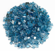 "American Fire Glass - Pacific Blue Reflective 1/2"" Glass - AFF-PABLRF12-10  _"