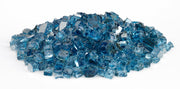 "American Fire Glass - Pacific Blue Reflective 1/2"" Glass - AFF-PABLRF12-10  _2"