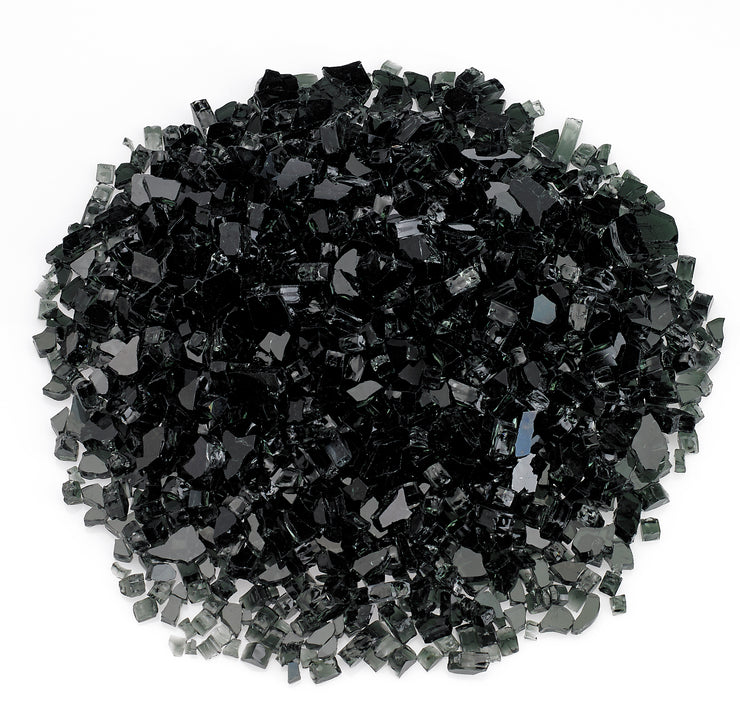 "American Fire Glass - 1/4"" Black Glass - AFF-BLK-10-J"