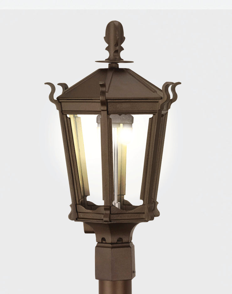 Gothic Post Mounted Gas Lights 2900H