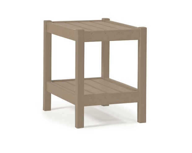 Breezesta - Adirondack Accent Table - Weatherwood