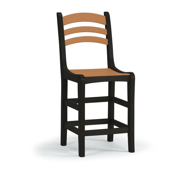 Breezesta - Avanti Counter Side Chair - Black & Cedar