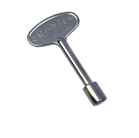 Dante Fireplace Key - 3 Inch Chrome - K14