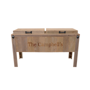 Rustic Double Cooler - 1 Engraved Line