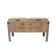 Double Rustic Cooler - 2 Engraved Lines