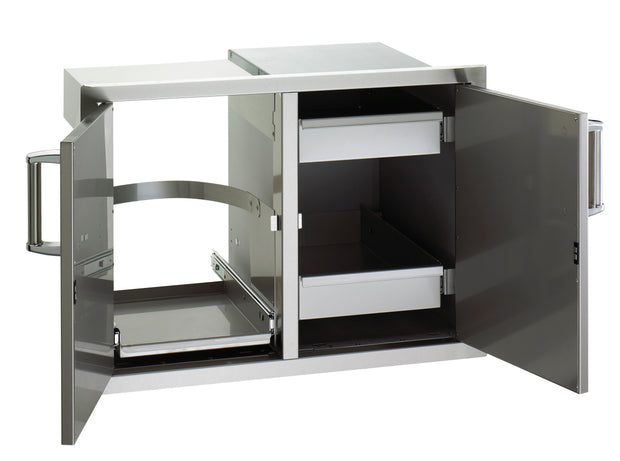 Fire Magic - Premium - Double Drawers w/ Tank Tray & Louvers
