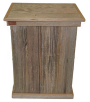 Single Outdoor Rustic Trash Can 1