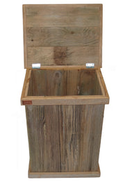 Single Outdoor Rustic Trash Can 2