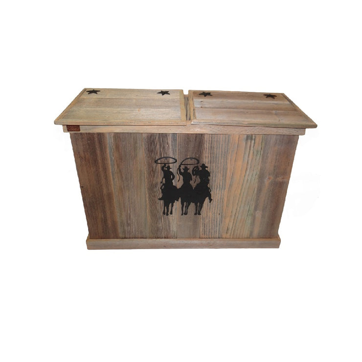 haggards double rustic trash can - tres hombres -