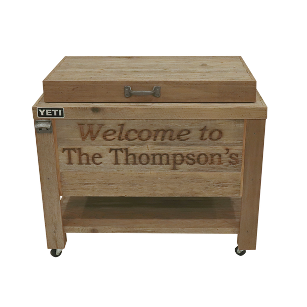 Yeti 65 Rustic Cooler with 2 Engraved Lines