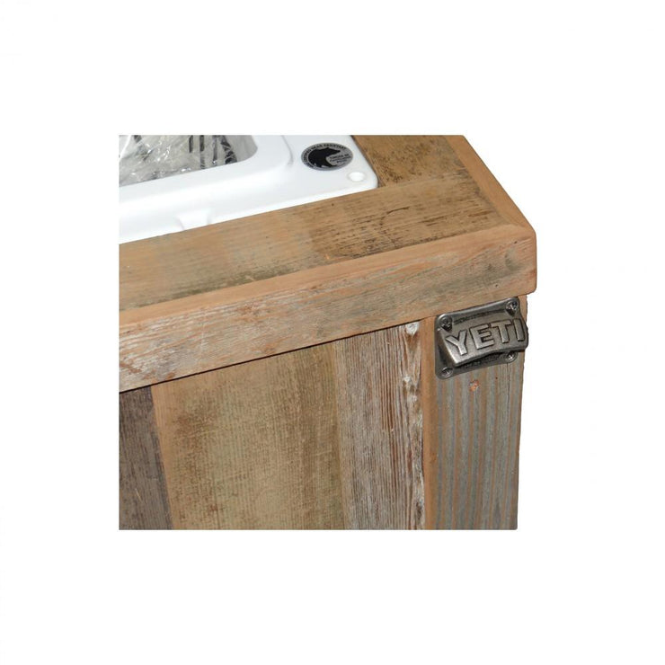 Yeti 65 Rustic Cooler with 2 Engraved Lines 5