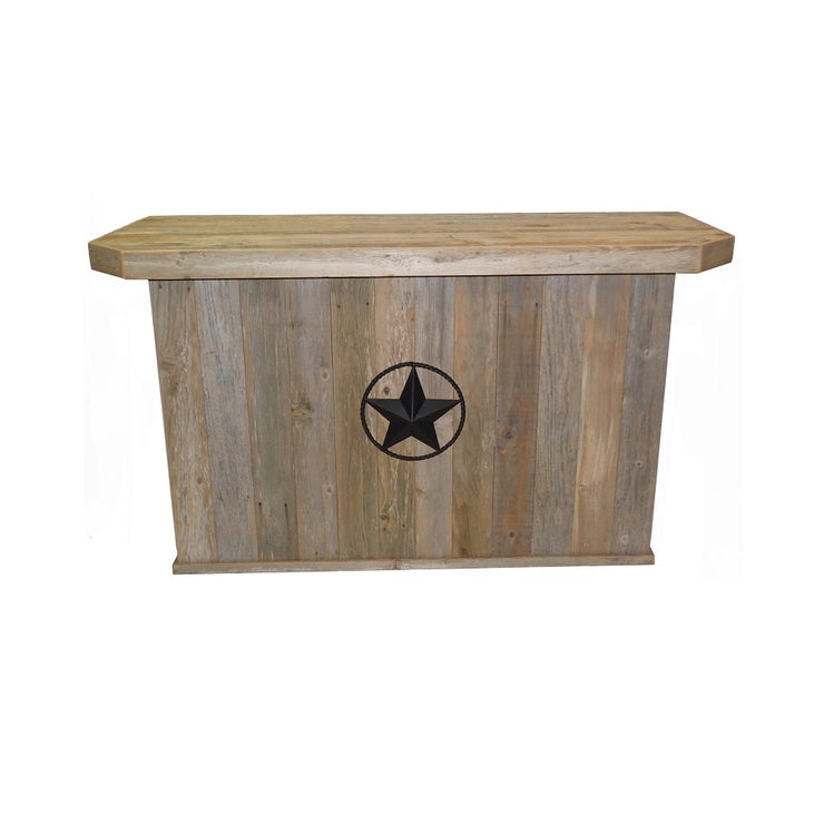 Outdoor Rustic Bar with Star -