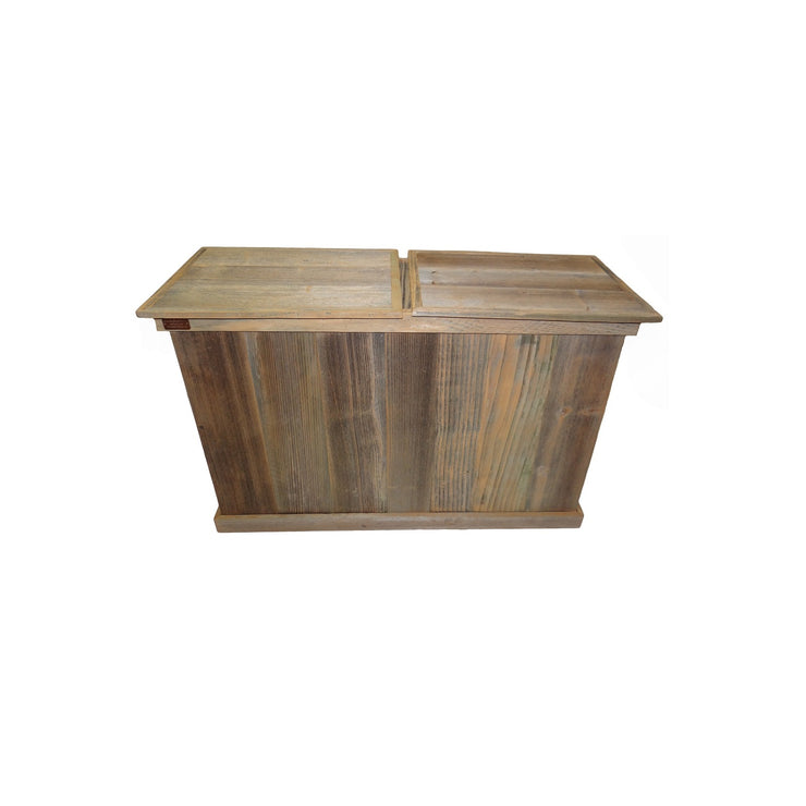 haggards Rustic Double Trash Can