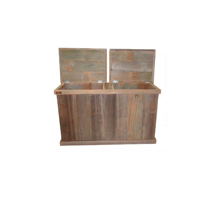 haggards Rustic Double Trash Can 2