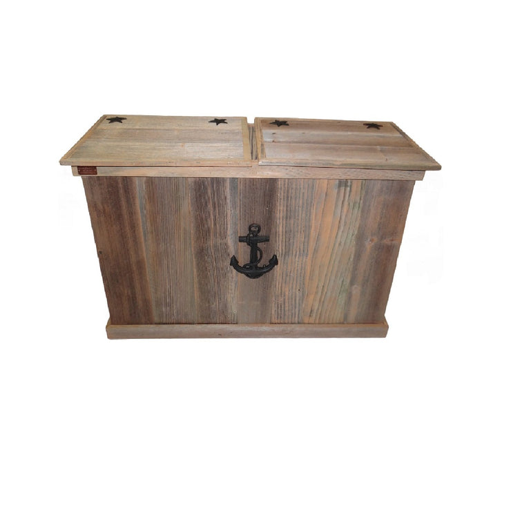 Haggards Double Rustic Trash Can - HRTCDB007B