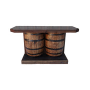 Outdoor Rustic Wine Barrel Bar - hrbawb000b 1