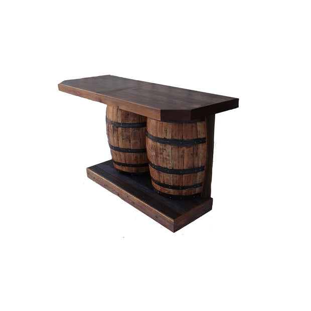 Outdoor Rustic Wine Barrel Bar - hrbawb000b 5