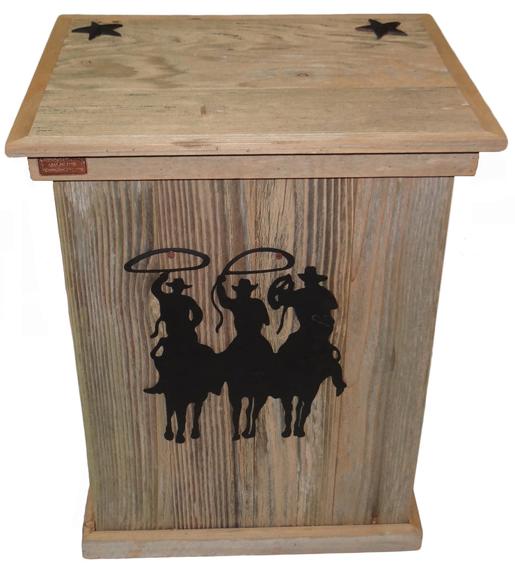 Rustic Single Trash Can Tres Hombres - HRTCSI008B