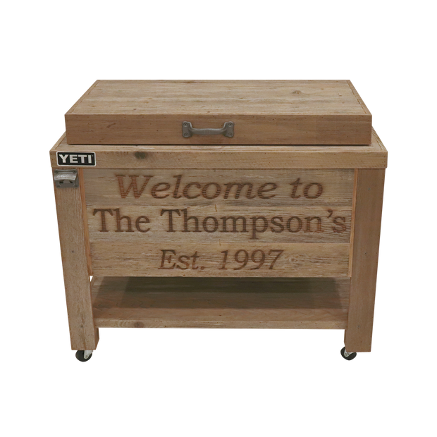 Yeti 65 Rustic Cooler - 3 Engraved Lines
