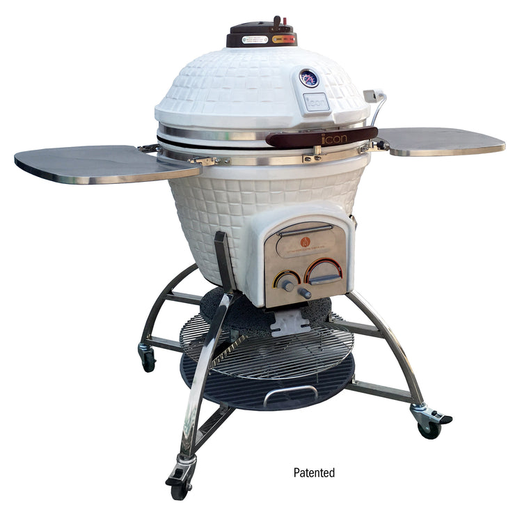 Icon Grills - Charcoal Grill - smoker - 701 series white - CG701wcccpb1b 2