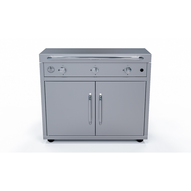 GFE105 with Lid on Cart, Le Griddle