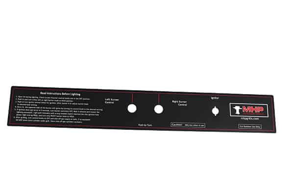 GGCPLBL18S Control Panel Sticker for MHP WNK Grills