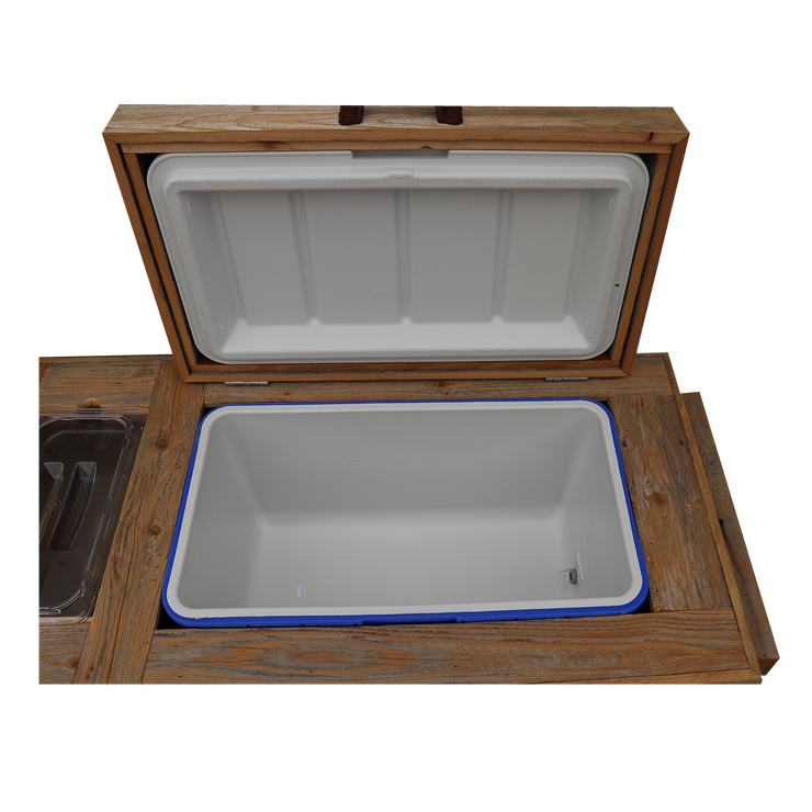 Super Duper Rustic Cooler with 3 Engraved Lines 12