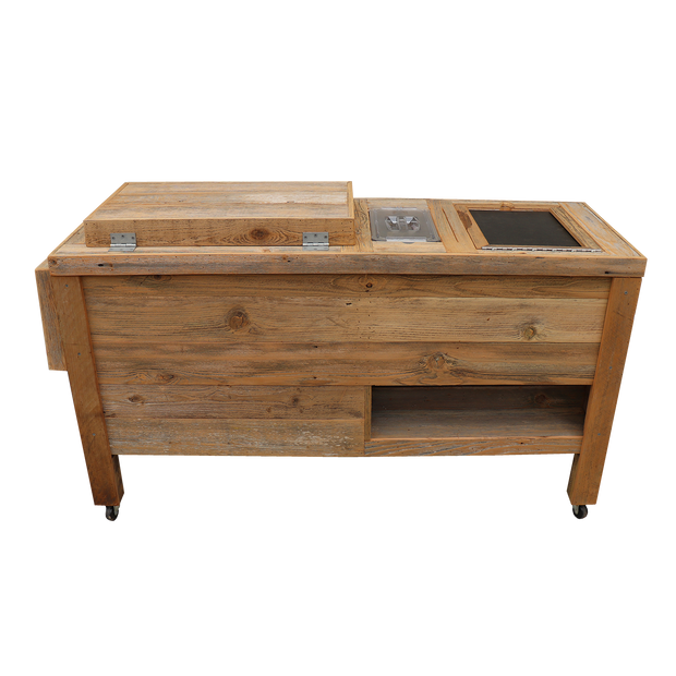 Super Duper Rustic Cooler with 3 Engraved Lines 8