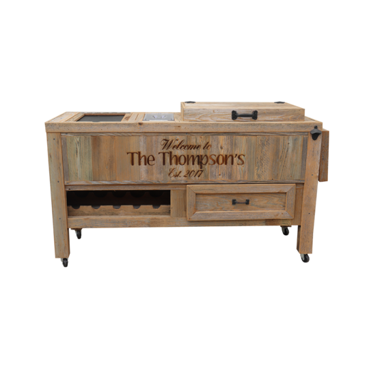Super Duper Rustic Cooler with 3 Engraved Lines
