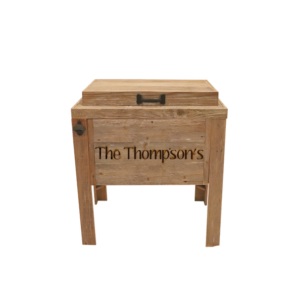 Rustic Single Cooler - 1 Engraved Line