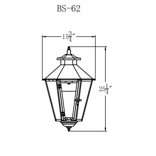 Electric Gas Light - Bayou Street 62 - BS62E _ 2
