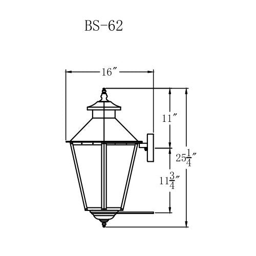 Electric Gas Light - Bayou Street 62 - BS62E _ 3