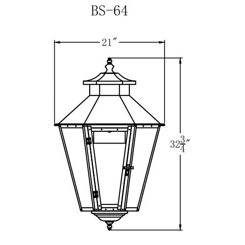 Electric Gas Light - Bayou Street 64 - BS64E _ 2