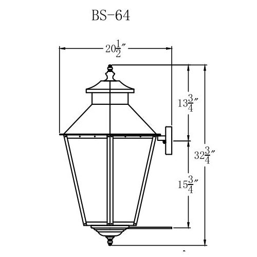 Electric Gas Light - Bayou Street 64 - BS64E _ 3