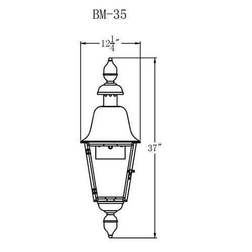 Electric Gas Light - Belmont 35 - BM35E _ 2