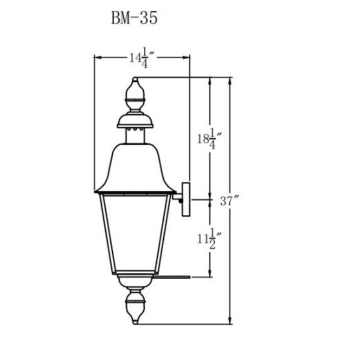 Electric Gas Light - Belmont 35 - BM35E _ 3