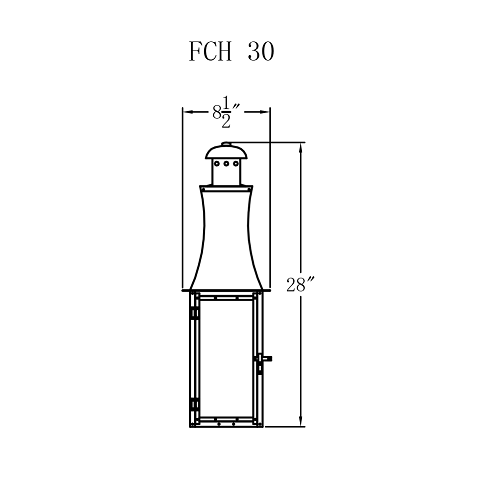 Electric Gas Light - Churchill Flush 30 - FCH30E _ 2
