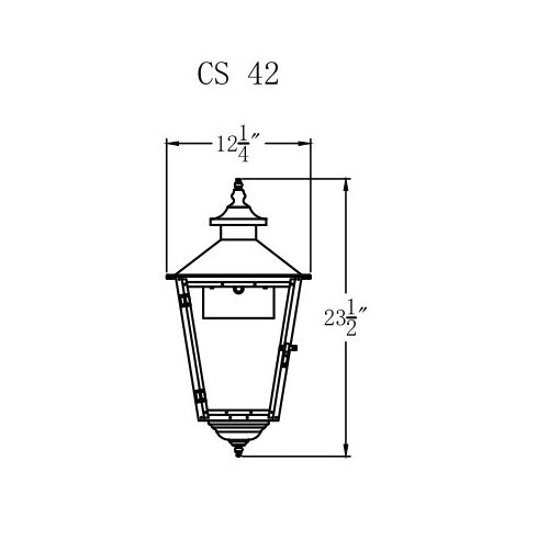 Electric Gas Light - Conception Street 42 - CS42E _ 2
